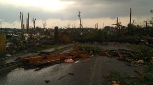Forest Lake neighborhood, minutes after the epic 4/27/2011 Tuscaloosa tornado (photographer Tanya Mikulas)