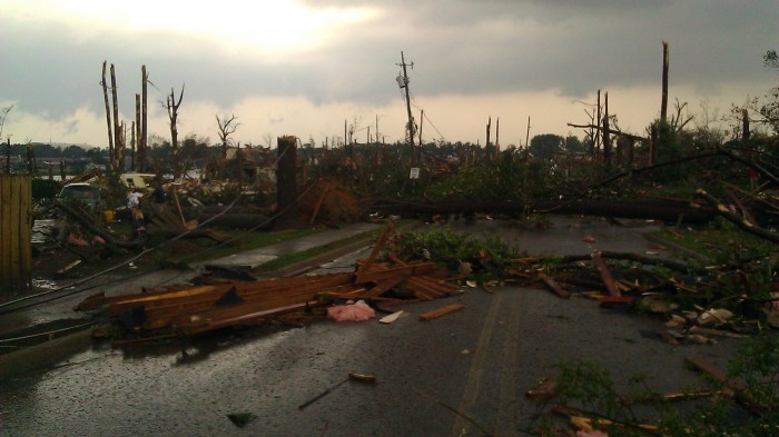 Forest Lake neighborhood, minutes after the epic 4/27/2011 Tuscaloosa tornado (photographer Tanya Mikulas)