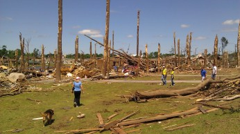 Widespread destruction from the 4/27/2011 Tuscaloosa Tornado. photo by Tanya Mikulas