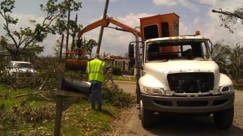 The City of Tuscaloosa fleet took a real beating by the April 27, 2011 tornado, photo by Tanya Mikulas