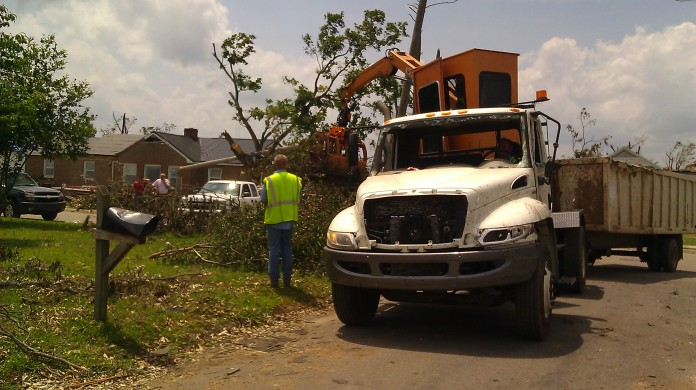 The City of Tuscaloosa fleet took a real beating by the April 27, 2011 tornado, photo by Tanya Mikulas