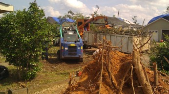 Cleanup continuing in front of my house. (Tanya Mikulas, photographer)