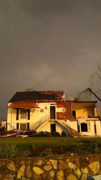 IMAG2989 rainbow may 3 Tanya Mikulas Tuscaloosa tornado 2011