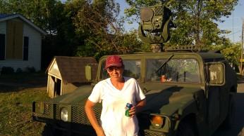 IMAG3152 me with the hummer may 6 Tanya Mikulas Tuscaloosa tornado 2011