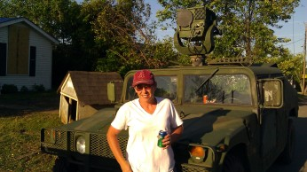 IMAG3152 me with the hummer may 6 Tanya Mikulas Tuscaloosa tornado 2011