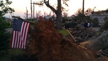 IMAG3164 flag hummer may 7 Tanya Mikulas Tuscaloosa tornado 2011