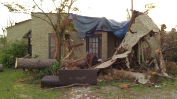 destroyed house at the south of Forest Lake.